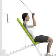 拉力器斜板臂屈伸